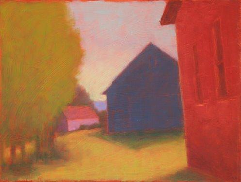 Dark Blue Barn