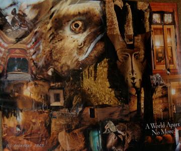 collage goat animal urban