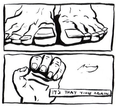 finger toe nails comics toon
