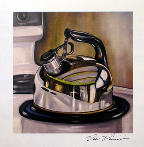 teapot kitchenware painting