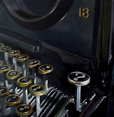 typewriter old black still life