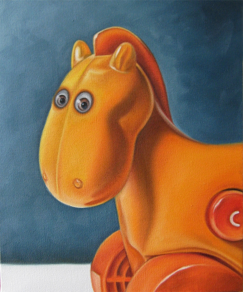 horse toy still life