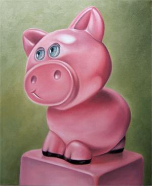 pig toy still life