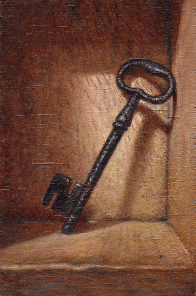 key still life metal wood