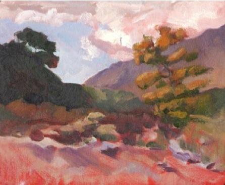 autumun-orange_landscape_oil-on-panel