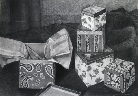 boxes-presents-gifts_still-life_charcoal-on-rives-bfk