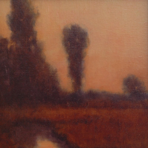 evening pool_landscape_oil-on-canvas