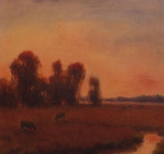 november twilight_lanscape_oil-on-canvas
