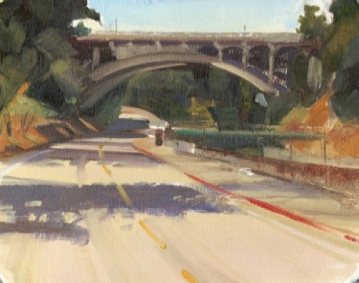 rose-bowl-drive-bridge_cityscape_oil-on-panel