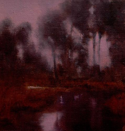 scatter creek dusk_landscape_oil-on-canvas