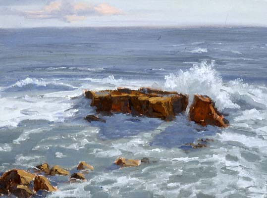 surf shadows_marine-scenes sea-scape oil