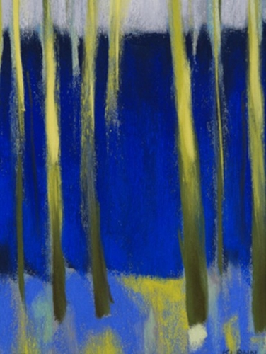 yellow-trees-in-a-blue-forest_abstract_pastel-on-paper