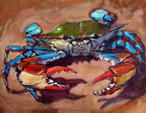Oil on Canvas Beach Crab