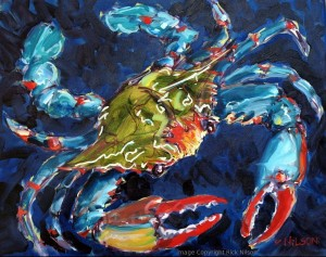Oil Painting Crab